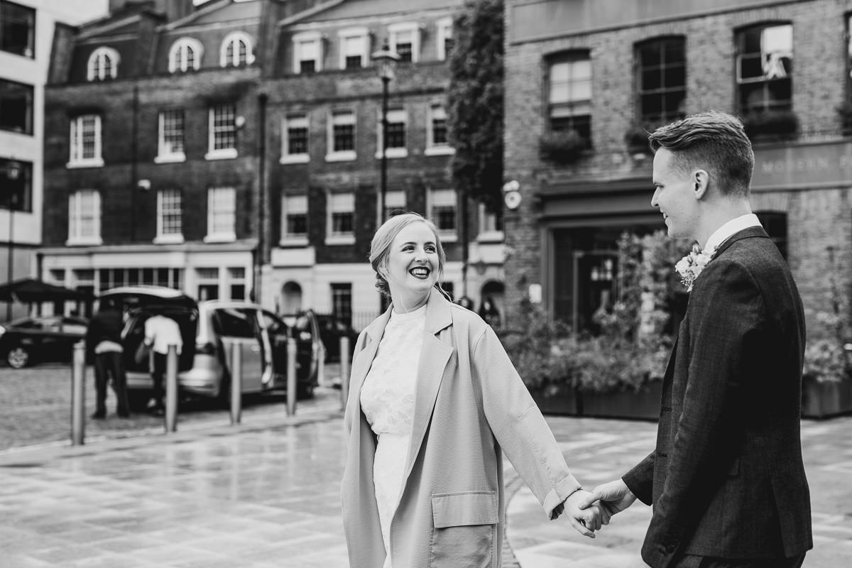 Toyshop Silk Coat London Wedding Photographer