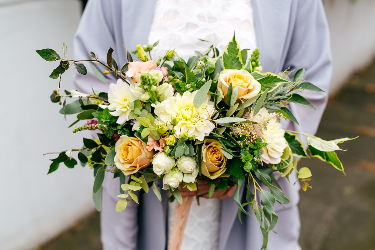 Bouquet by One Flew Over photos by London Wedding Photographer Jordanna Marston