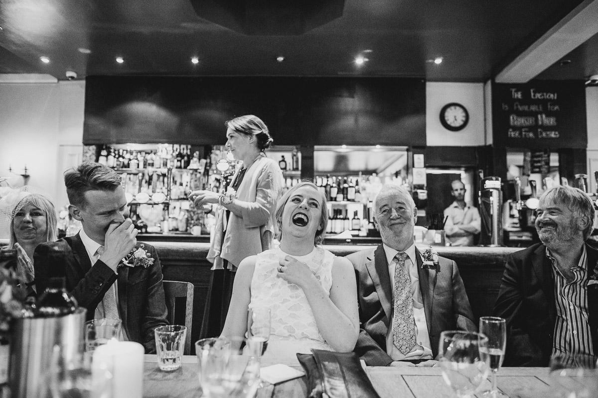 Speeches by London Wedding Photographer Jordanna Marston at The Easton Pub