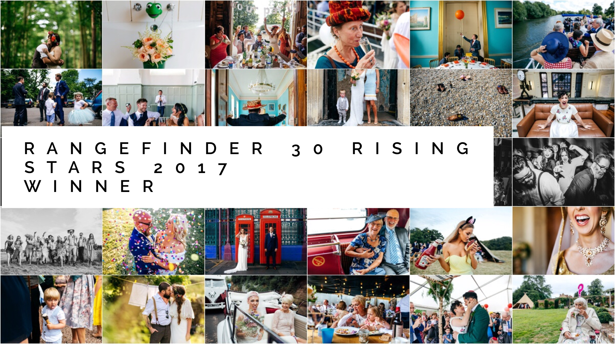 Rangefinder Rising Stars Winner 2017 - collection of award winning wedding images