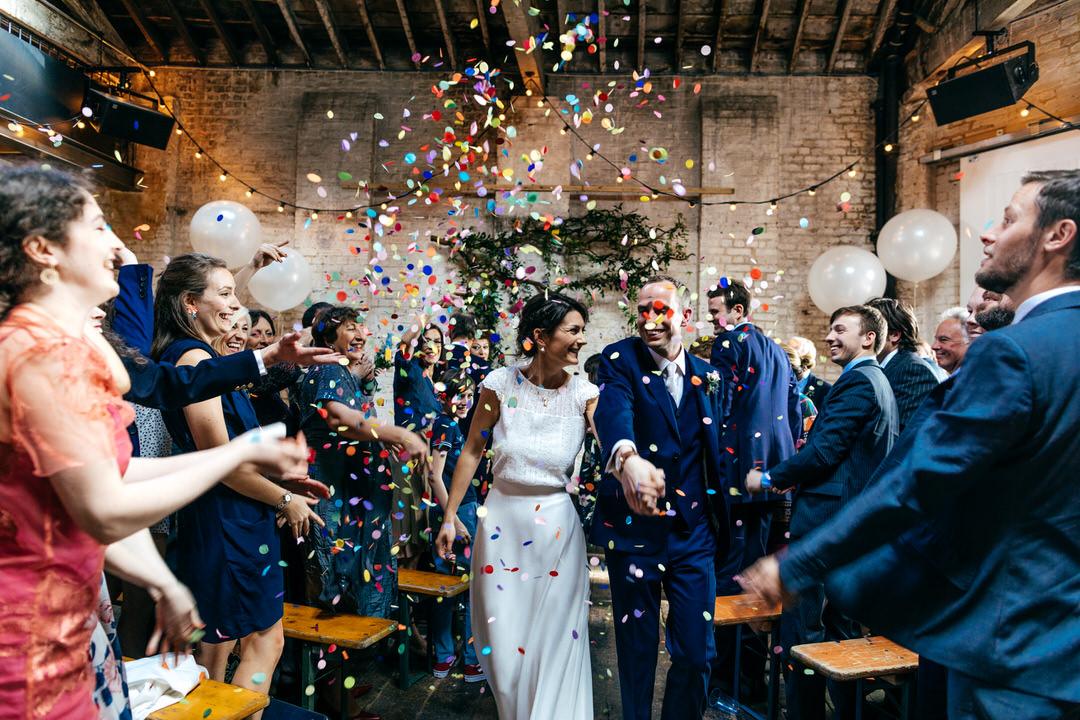 Brixton East Wedding Confetti exit