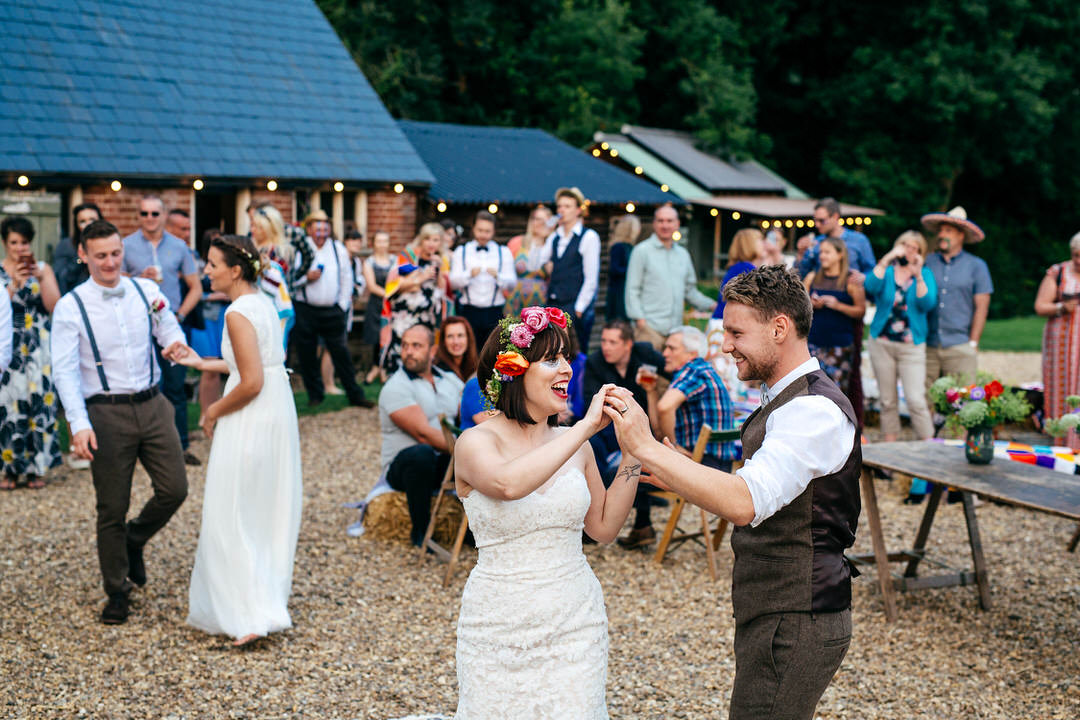 Cool Wedding Venues The Keeper and The Dell Wedding Photographer Boho Bride Cool Groom Outdoor First Dance