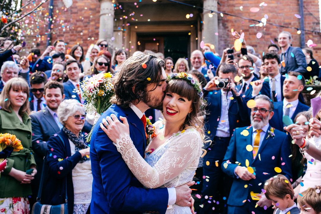 Walcot Hall Wedding Photographer Shropshire COnfetti Cool Couple