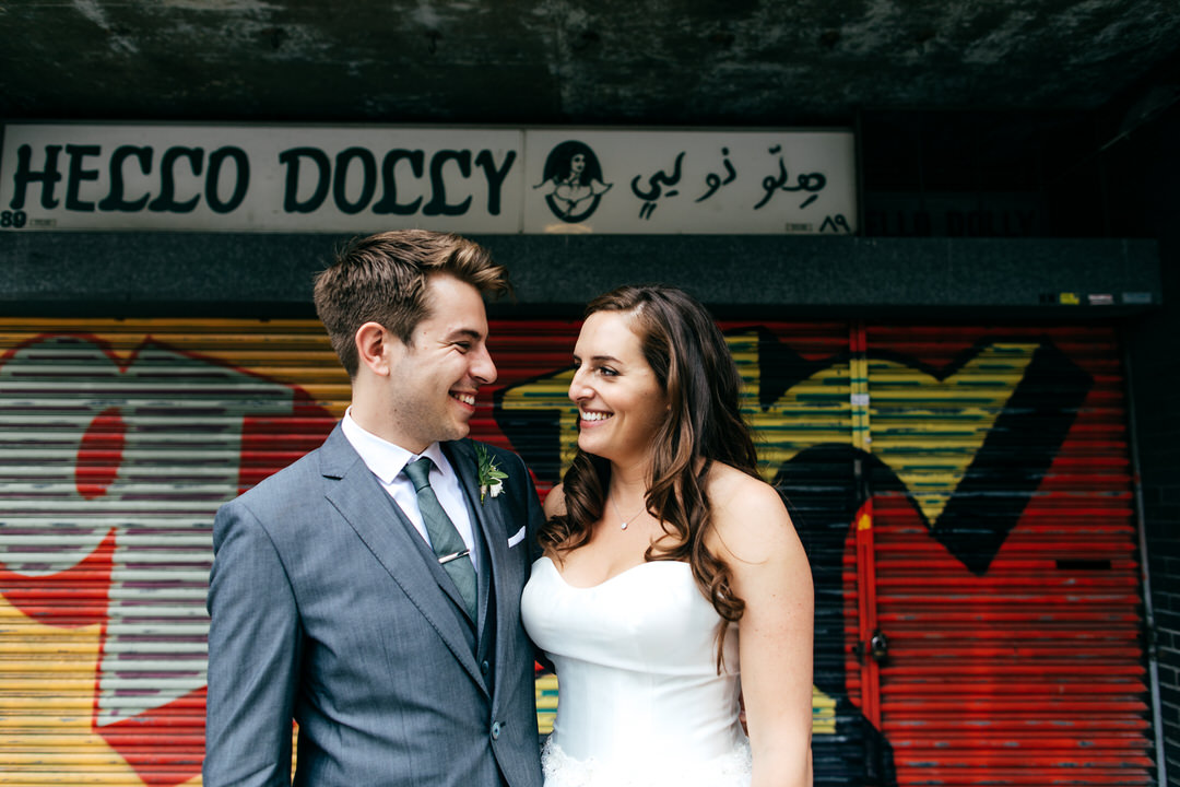 cool-london-wedding-couple-graffiti-backdrop