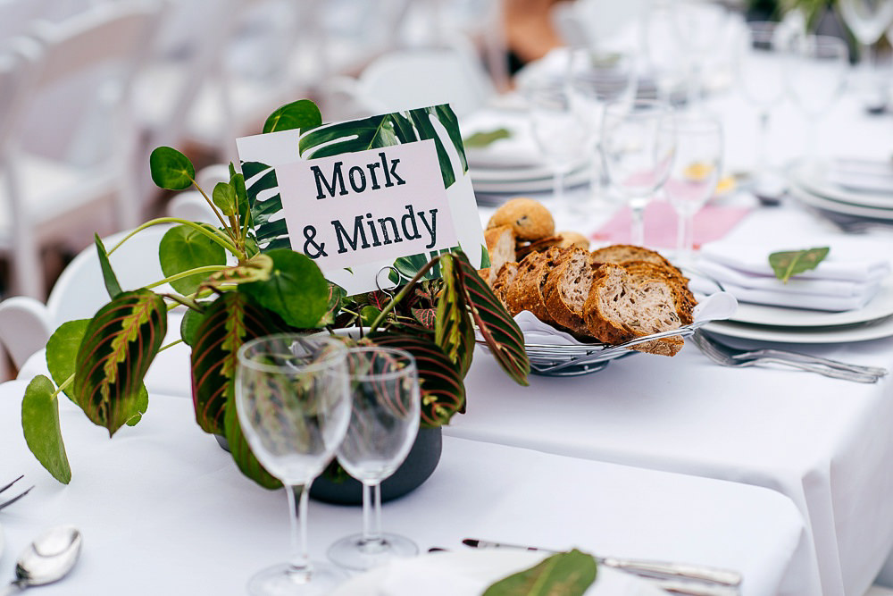 palm-leaf-inspired-place-names-table-settings-woodberry-wetlands-centre-wedding
