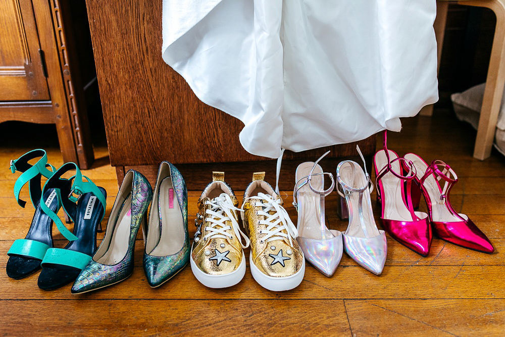 holographic-wedding-shoes-woodberry-wetlands-wedding