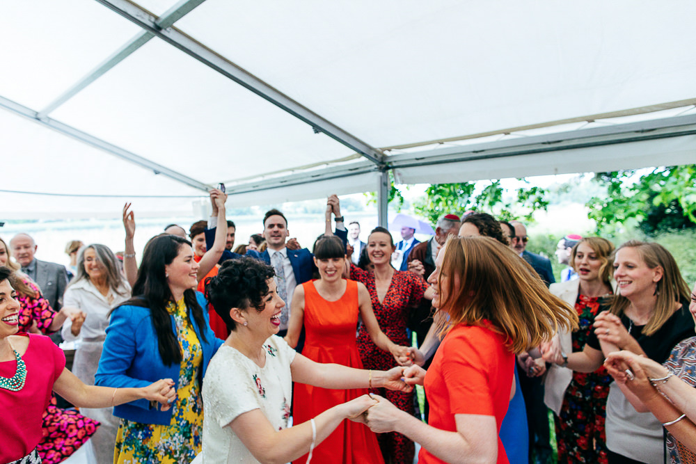 women-dance-hora-jewish-wedding-woodberry-wetlands-jordanna-marston-photography