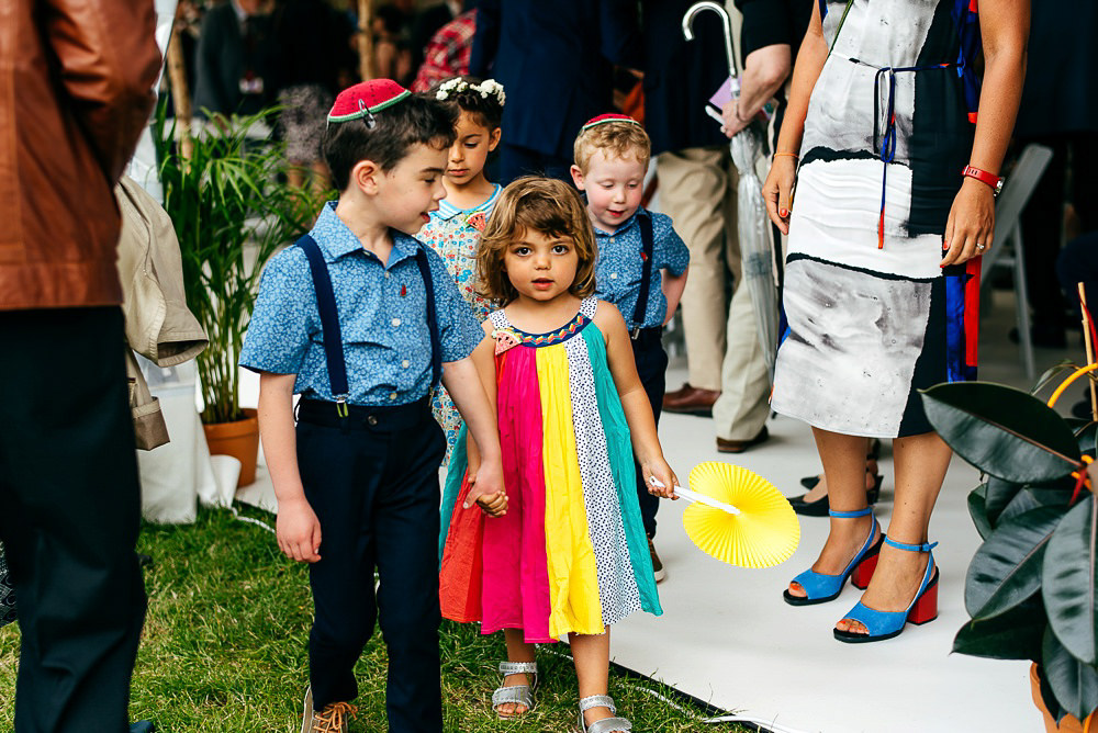 children-at-wedding-wearing-brightly-coloured-outfits-woodberry-wetlands-centre