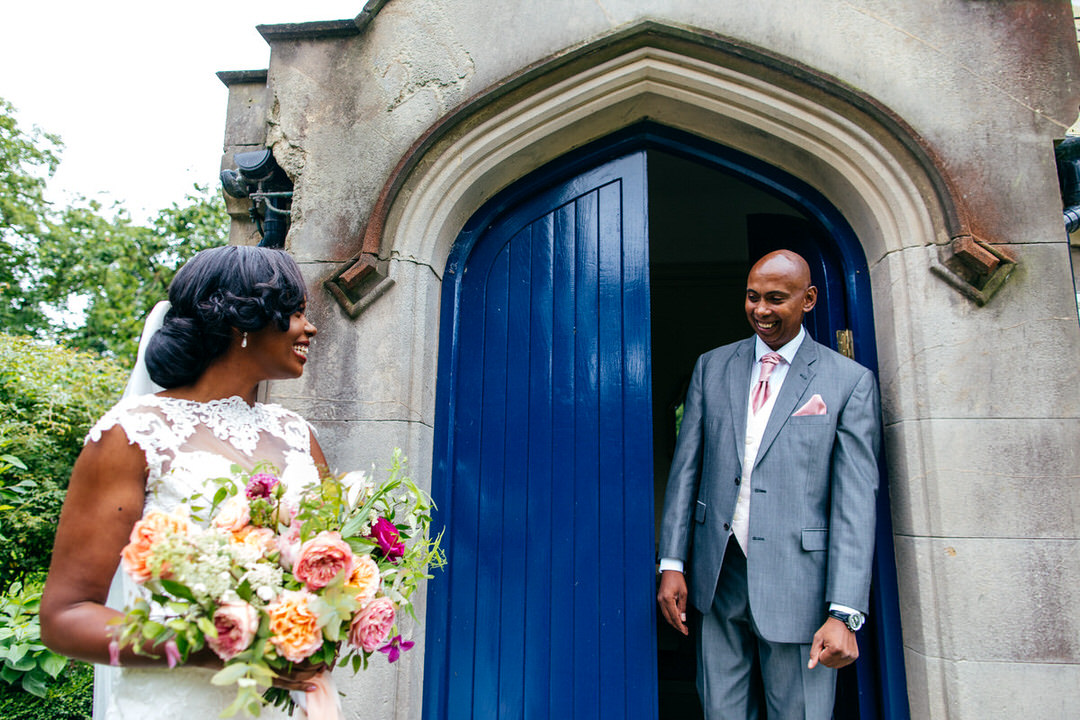 father-of-bride-sees-daughter-for-first-time-combermere-abbey