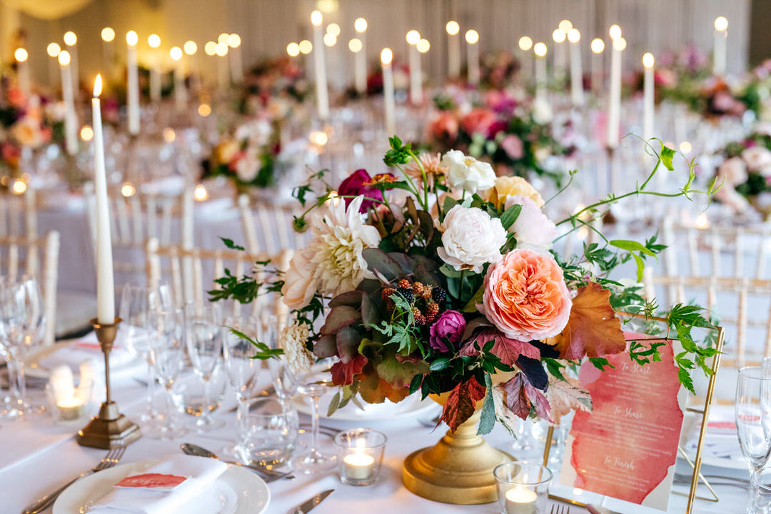 peony-centrepieces-combermere-abbey-with-candles-olive-tree-catering